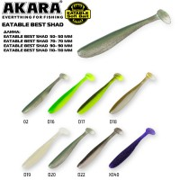 Рипер Akara Eatable Bass Shad 110 (7 г, 11.5 см), 3 шт