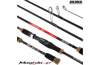 Спиннинг штекерный Akara Magista GT, уголь, ( тест 5.5-27), 2.1 м