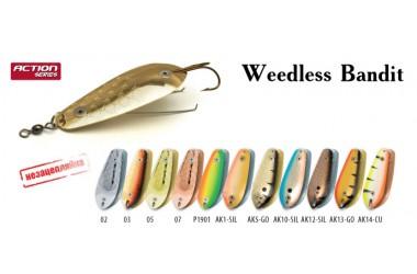 Блесна  незацепляйка колеблющаяся Akara Weedless Bandit 9 см, 18 гр