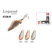 Блесна колеблющаяся Akara Legend Atom M со вставкой 6 см, 13 гр