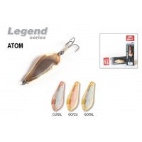 Блесна колеблющаяся Akara Legend Atom со вставкой 7 см, 15 гр