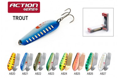 Блесна колеблющаяся Akara Action Series Trout 8.5 см, 26 гр