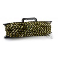 Шнур Akara якорный плетеный ПЭ с карабином на мотовиле 20 м/6 мм