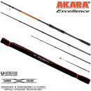 Удилище фидерное 3 колена Akara Excellence Feeder TX-30, уголь, (90-120-150), 4.2 м