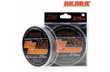 Плетёный шнур Akara Big Game 275 м, серый