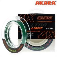 Плетёный шнур Akara Ultra Light X-4 100м,зеленый