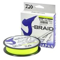 """Леска плетеная DAIWA """"J-Braid X4"""", 270м, желтая"""