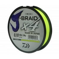 """Леска плетеная DAIWA """"J-Braid X4"""",135м, желтая"""