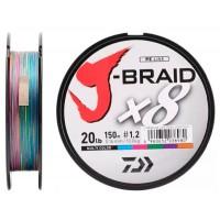 """Леска плетеная DAIWA """"J-Brait X8"""" 150м, мультиколор"""