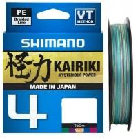 Леска плетеная Shimano Kairiki 4 PE 150м, многоцветная