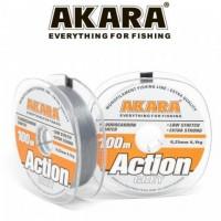 Леска Akara Action Grey 100 м, серая