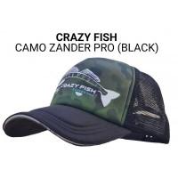 Кепка Crazy Fish Camo Zander Pro (black) М