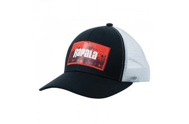 Кепка RAPALA черная c сеткой RED Splash logo