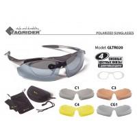 Очки поляризационные Tagrider в чехле GLTR 020, съемные фильтры, диоптрийная вставка
