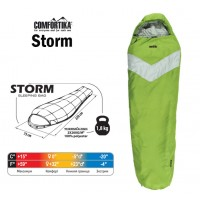 Спальник Comfortika Storm L, 220x75x45 см с подголовником, 0С/-20С