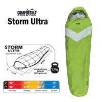 Спальник Comfortika Storm Ultra L 220x75x45 см с подголовником, +5C/-15C