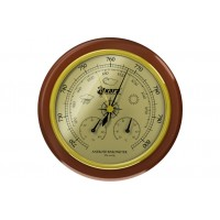 Барометр Akara с термометром и гигрометром деревянная оправа 125 мм