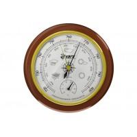 Барометр Akara с термометром деревянная оправа 125 мм