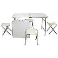 Стол складной для пикника со стульями 4 шт