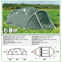 Палатка COMFORTIKA Pamir 3 Plus