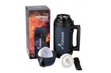 Термос HS TM-041 Тонар (крышка-кружка с ручкой, доп. пласт. чашка, скл.ручка, ремень) (1,4 л)