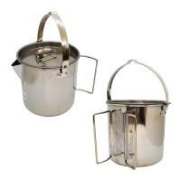 Котелок с носиком пищевая сталь 1,2 л с крышкой