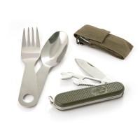 Набор походный COMFORTIKA (складн.нож+ложка+вилка) в чехле K5005