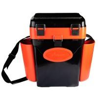 Ящик зимний  двухсекционный «FishBox» оранжевый (10л)