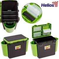 """Ящик зимний """"FishBox"""" Hellios односекционный зеленый (19 л)"""
